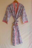 100% Cotton Night Wear Floral Handmade Kimono Long Hippie Khalo Caftan Bohemian