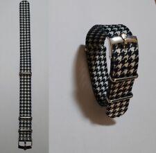 20mm NATO BOND cinturino per orologio pied de poule con fibbia Rolex
