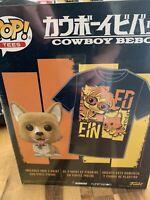 NYCC 2020 *SHARED* Funko Pop! & Tee Cowboy Bebop - Flocked EIN Figure w/ T-Shirt