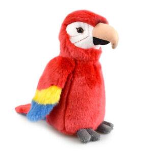 LIL FRIENDS MACAW PARROT PLUSH SOFT TOY BIRD 18CM STUFFED ANIMAL BY KORIMCO