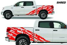 Vinyl Graphics Decal Shred Wrap Kit for 2007-2013 Toyota Tundra TRD Crew Cab RED
