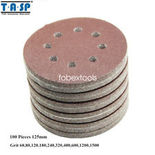 "100PC 5"" 125mm 8 Hole Sanding Paper Abrasive Grit 60 80 120 180 240 320 400 1500"