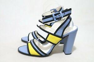 Size 10 Womens Multicolored Open Toe Block