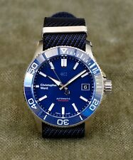 Christopher Ward C60 Trident Pro 600 Blue 38mm Automatic Diver's Watch [Mint]