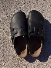 Authentic Birkenstock Boston Black Leather Clogs