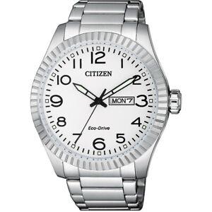 Citizen Eco-Drive Men's Silver-Tone Calendar Window 42mm Watch BM8530-89A