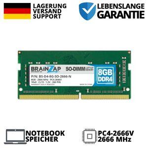 8GB DDR4 RAM PC4-2666V 1Rx8 2666 MHz 1.2V Notebook Laptop Arbeitsspeicher CL19