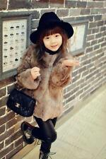 Trendy real Fur Toddlers Kids Girls rex rabbit fur Warm Jacket Coat Outwear 2$@