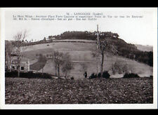 LANGOGNE (48) VILLA animée & MONT MILAN Place Forte GAULOISE cliché période 1930