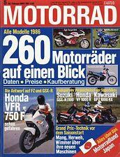 Motorrad 5 86 1986 Rolf Milser Egli Target 600 Husqvarna 430 Auto GPZ 1000 RX