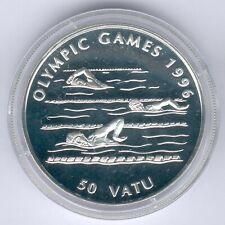 Vanuatu, 50 Vatu 1993 Olypiade Schwimmen, Silber 31,47g,PP-