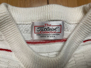 Vintage The Titleist Collection Golf Sweater Made In USA