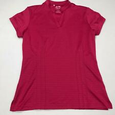 adidas Golf ClimaLite Womens Top Size Small Short Sleeve Pink Poly Stretch 0919