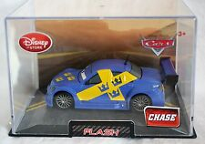 Disney Store Pixar Cars CHASE Flash Die Cast Car 1:43 Scale Hard Plastic Case