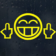 JDM Smiley Face Funny Car Bumper Window Phone Laptop Wall Decal Vinyl Sticker