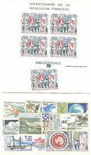 TIMBRES TAAF ANNEE COMPLETE 1989 + BLOC 1  NEUFS ** COTE € 85,70