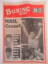 Boxing News 23 Mar 1990 McAuley-Louis Curtis Chavez-Taylor Mason-Martin Angol