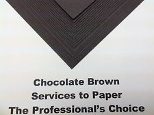 A4 300gsm Chocolate Brown Thick Acid Free Card X 20