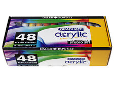 DALER ROWNEY ARTISTS GRADUATE ACRYLIC COLOURS STUDIO SET 48x22ml PAINT TUBES