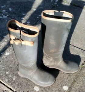 Ariat Burford Wellies Wellington Boots Olive Green   UK Size 6 Used