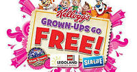2 for 1 Grown ups go free Code or Voucher Legoland, London Eye Madame Tussauds