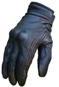 Busa Bikers Gear Black Short Cruiser Motorcycle Waterproof Bobber Gloves Bikers