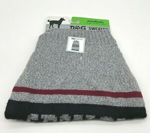 """Gray """"Spoiled"""" Dog Pup Apparel SWEATER Size Medium 17-22 inches NWT"""