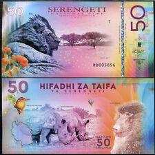 New listing Tanzania Hifadhi Za Taifa 50 Shiling Ya Serengeti Park Polymer 2018 Rhino Lion