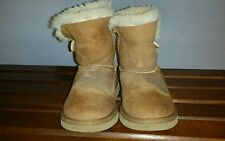 $120 UGG Australia Bailey Button Chestnut Suede Winter 5991T Boots Toddler 12