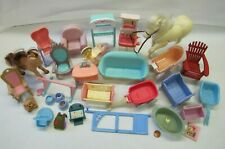 Used Fisher Price Loving Family Dollhouse FURNITURE ACCESSORIES LOT #10 for PLAY