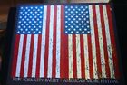 Vintage 1988 NYC Ballet Offset Litho Poster Print Jasper Johns Double 2 Flags