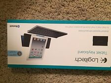 Brand new LOGITECH wireless bluetooth Keyboard and stand for iPad tablet