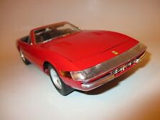 Ferrari 365 gts/4 Convertible Cabriolet spyder rouge rouge rosso roja red, solido 1:18!