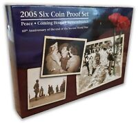 Australia 2005 Peace Remembrance 60th Anniv The End of WWII 6-Coin Proof Set RAM