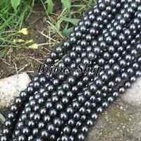70 Perles de Bohême en verre 10 mm couleur Anthracite ( jet Hématite )