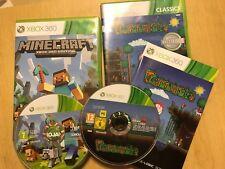 2 PAL XBOX 360 GAMES MINECRAFT & TERRARIA