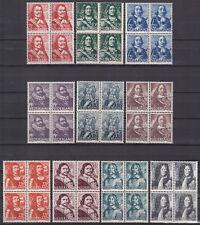 NVPH 412-421 blokjes Zeehelden 1943-1944 postfris (MNH)