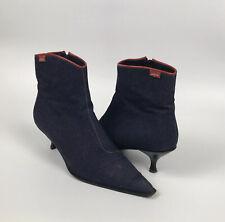 Levi's Jeans Denim Heels / Ankle Boots Zip Up Size 39 EU / 6 UK Womens