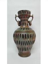 Gran Jarron Anfora en ceramica Años 80 Vintage Raro e inusual. 45cm altura