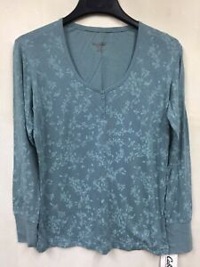 NEW Blue Damsel By Cabelas Womans Size L Blue  Light Weight Long Sleeve Top