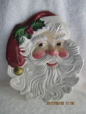 Collectibles Holiday 2003 Fitz & Floyd Christmas Santa Canape Plate New
