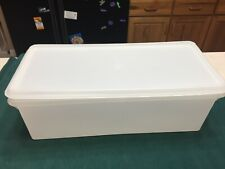 Vtg Tupperware Bread Cookie Keeper Server White Sheer with Lid Items #606 & #607