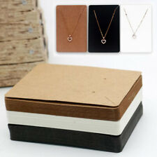 Jewelry Necklace Bracelet Hanging Holder Cards Craft Jewerly Display Paper Cards