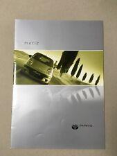 Daewoo Matiz sales brochure