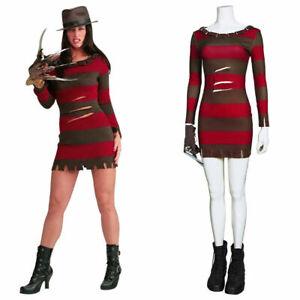 Nightmare on Elm Street Cosplay Ghost Street Sexy Lady Freddie Kruger Dress