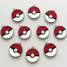 Lot 10pcs Poke Ball Pokemon Pikachu Metal Charm Pendants for Jewerly Making Key