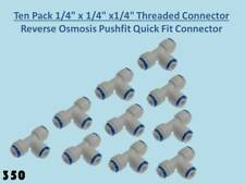 """10x Equal Tee """"T"""" Pushfit Connectors: RO Reverse Osmosis Units Water Filters 350"""