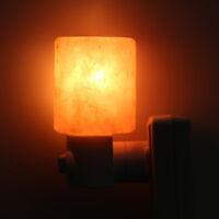 Hot Himalayan Salt Night Light Natural Crystal Lamp Air Purifier Home Wall Deco