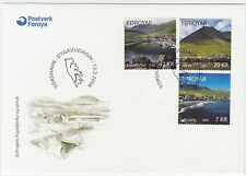 Faroe Islands 2006 Eysturoy Towns, Leirvik etc. High Values, First Day cover