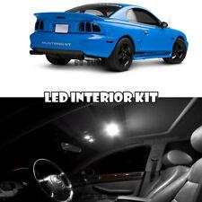 For 94-98 Ford Mustang Base GT Interior LED Xenon Light Bulb Full Package Kit